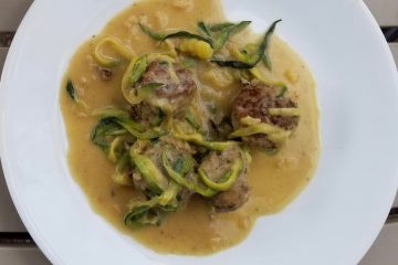 Swedish Meatballs over Zucchini Noodles