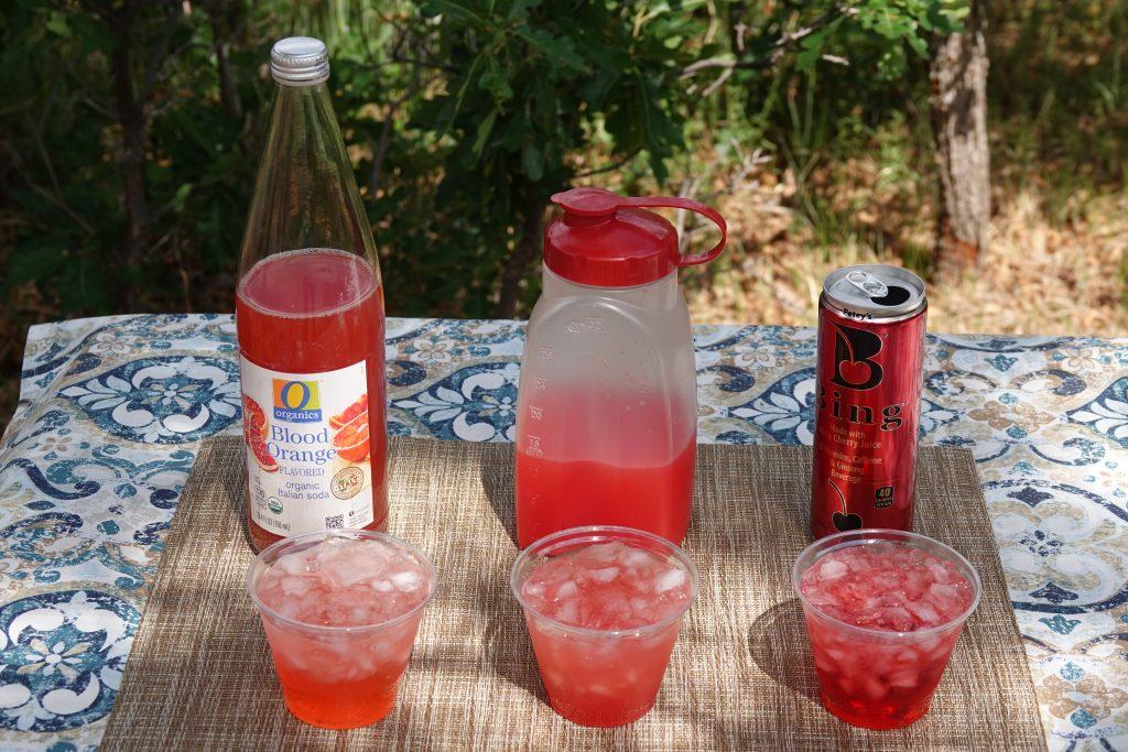 Varieties of watermelon martinis
