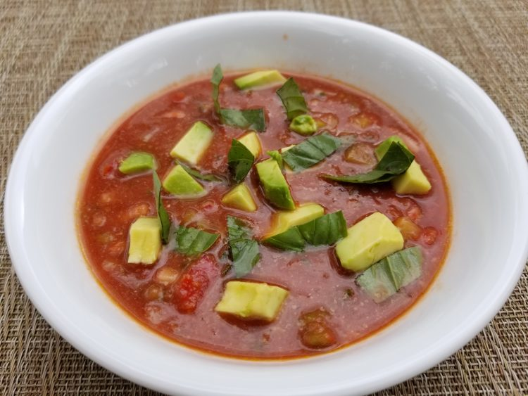 Slightly chunky gazpacho