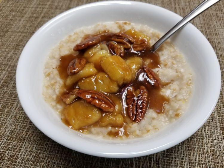 Banana pecan oatmeal