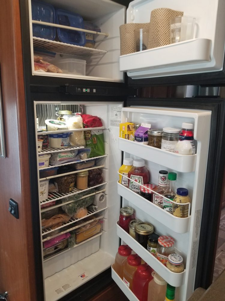 Packed refrigerator