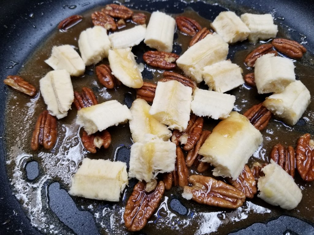 bananas split in thirds