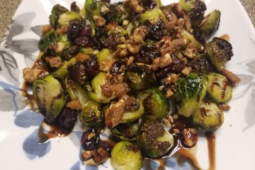 pecan cranberry brussels sprouts