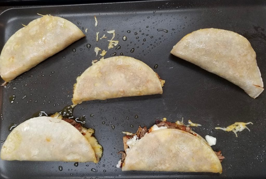 Tacos on a griddle