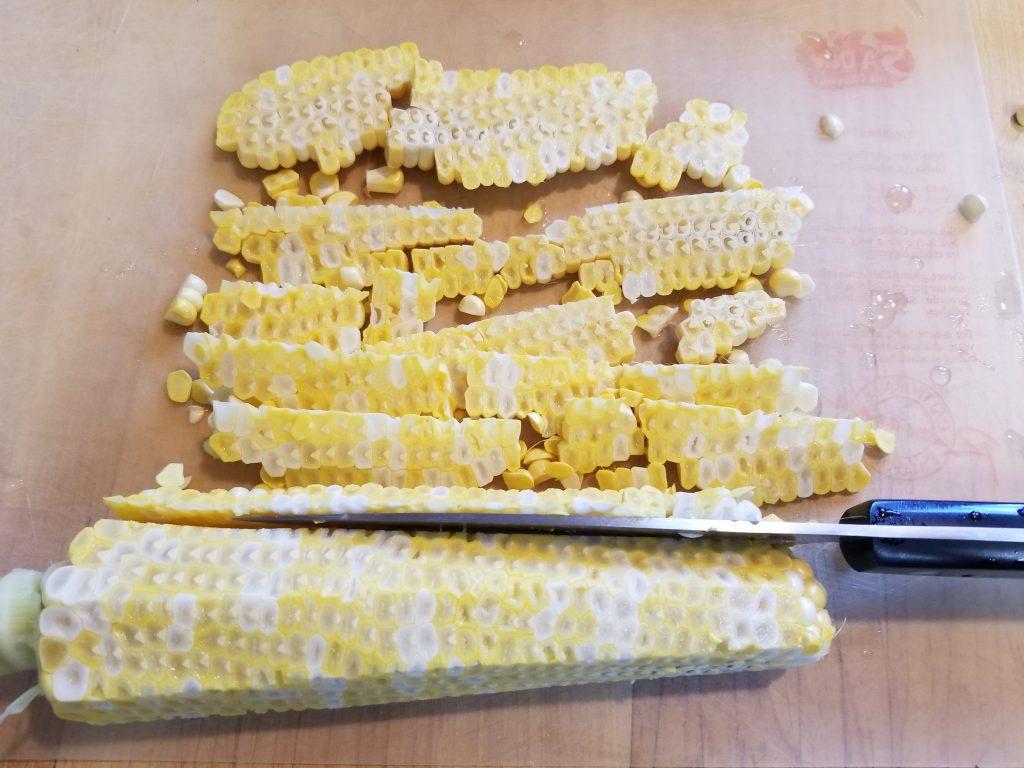 Cut corn off the cob